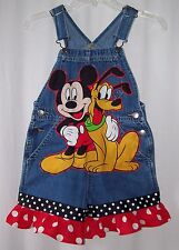 Custom boutique Disney Mickey Minnie Mouse Pluto overalls shortalls sizes 4 & up