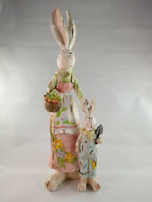 Spring Easter Holiday Mom and Son Bunny Rabbit Figurines Indoor Home Decor