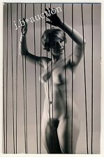 #59 RÖSSLER AKTFOTO 14 x 9 NUDE WOMAN STUDY * Vintage 50s Studio Photo PC