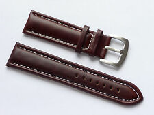 Quality Lug 24mm Brown Genuine Calf Leather Strap Fits All