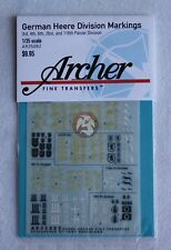 Archer 1/35 German Heer Panzer Division Markings WWII No.3 [Decal] AR35082