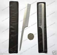 "2 Metal Professional Hairdressing Rat Tail Aluminium Comb 8"" Hair Style Cutting"