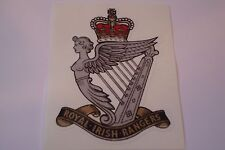"2 X ROYAL IRISH RANGERS   HM ARMED FORCES  STICKERS  4"" BRITISH ARMY"