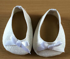 white glittery shoes to fit baby born size doll FREE POST
