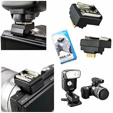 JJC MSA-10 hot shoe adapter for Sony NEX cameras with Smart Accessory terminal