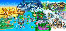 Super mario Map Wall Poster - Huge - 20 in x 30 in - Fast Shipping - HUGE