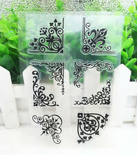 Lace Silicone Clear Stamp Seal DIY Diary Scrapbooking Album Note Craft