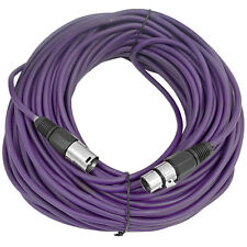 SEISMIC AUDIO Purple 100' XLR Microphone Cable Mic Cord