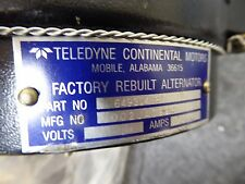 Teledyne Continental Aircraft Alternator P/N 649304R