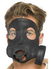 Gas Rubber Mask WW1 WW2 Army Fancy Dress Costume Accessory 21194