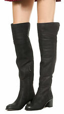 New Sam Edelman Black Leather JOPLIN Over The Knee Boots Shoes sz 10