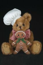 "10"" BEN BAKING*Bearington Teddy Bear*NEW*Christmas*GINGERBREAD MAN*Chef*173236"