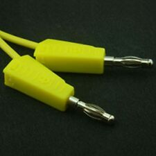 4mm Stackable Banana Test Lead 500mm Yellow