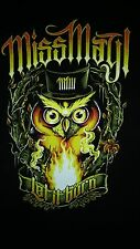 MISS MAY I Metal Band Let It Burn Night OWL Fire Flames Nice Large L T SHIRT