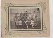 PHOTOGRAPHIE ANCIENNE DE CLASSE PETITES ET JEUNES FILLES/CABINET ETIENNE/TARARE