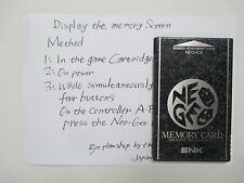 NEO GEO AES -- MEMORY CARD NEO-IC8 -- JAPAN GAME. SNK. Can Save Data!12503