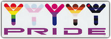 LGBT Bumper Stickers: GAY PRIDE Colors Rainbow Transexual Bisexual Bear Leather