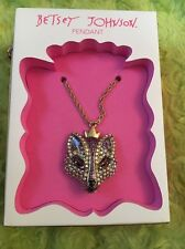 Betsey johnson holiday collection fox necklace