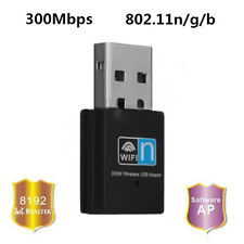 Black 300Mbps 802.11n/g/b Mini USB Wifi Adapter Dongle For PC Mobile Netbook