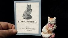 Staffordshire  Franklin Mint Curio Cabinet Cats Collection With Card