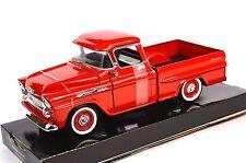 CHEVROLET APACHE FLEETSIDE PICKUP 1958 MOTORMAX 79311 1:24 NEW DIECAST RED