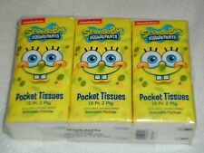 NEW SPONGEBOB SQUAREPANTS 6 PACK OF POCKET TISSUES