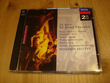 Bach St John Passion Johannes-Passion BENJAMIN BRITTEN PETER PEARS DECCA 2CD NM