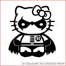 Funny HELLO KITTY ROBIN (BATMAN) Vinyl Decal Sticker for Car Window Laptop