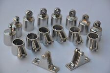 "Stainless Steel Hardware Fittings Set of 3/4"" 4-Bow Bimini Top ~ 16 pieces"