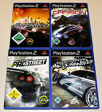 4 giochi ps2 Bundle-Need for Speed-sotto copertura Most Wanted Carbon Pro Street