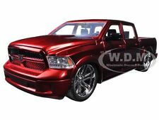 2014 DODGE RAM 1500 CUSTOM EDITION RED 1/24 DIECAST MODEL CAR BY JADA 54040