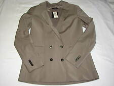 4 NEW Ann Taylor Brown Suit Coat Jacket Blazer Double Breasted Taupe Tan Olive G
