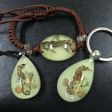 fine insect glow in dark sea horse drop bracelet ,key-chains ,pendant&necklace