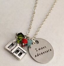Up movie necklace House with balloons necklace jewelry crystals From USA