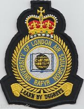 University of London Air Squadron Embroidered Crest Badge Patch - MOD Approved *