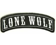 LONE WOLF PATCH 4 BIKIE BIKER VEST EMBROIDED SHIRT CAP HELMET JACKET BOOTS GLOVE