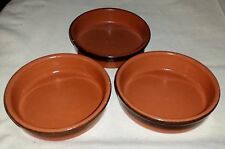 """Set Of 3 Clay Pot Saucers  - Fits Pots With 4"""" Base"""