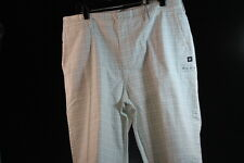 DC MEN'S DRESS / CASUAL CARGO SHORTS WHITE W/ TINY CHECKERS SOLID size 36