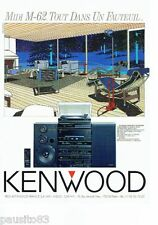 PUBLICITE ADVERTISING 116  1988  Kenwood  chaine hi-fi M-62