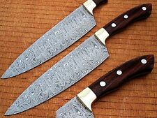Damascus Chef Knife Rose Wood Handle with Rain-Drop Pattern (SDM-2260)