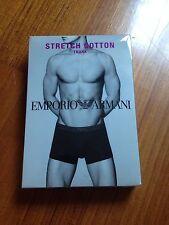 EMPORIO ARMANI Stretch cotton trunk boxer intimo uomo 46 S moda elastico alto