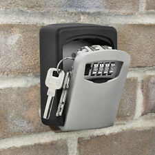 Wall Mount Key Storage Lock Box Holder 4 Digit Combination Safe Outdoor Security
