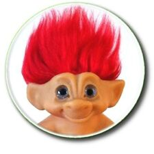 VINTAGE TROLL/ 70'S/80'S RETRO TOY DOLL BUTTON BADGE