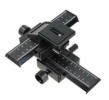 "UK Store! CameraPlus® 4 Way Macro Focusing Rail Slider Truck with 1/4"" Thread"