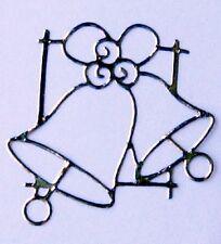 Sheet of 15 Silver Wedding Bells Stickers Scrapbooking Invitation Love 939S