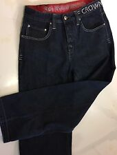 Authentic F CROWN HOLDER Men's Jeans Sz 34 Silver Sequins Gold Stitching F Crown