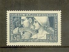 "FRANCE STAMP TIMBRE N° 252b "" C.A. LE TRAVAIL 1928 ETAT III "" NEUF xx SUP"