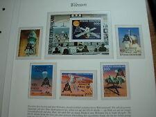 Weltraum SPACE Raumfahrt: Satz + Block Centralafrika APOLLO Mond 1969 m. Aufruck