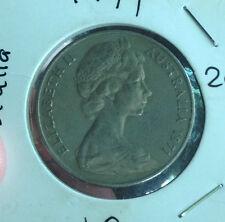 Australia 1971  20 cents coin high grade!