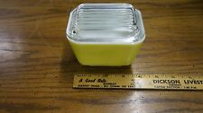 Vintage Pyrex 501B 1 1/2 cup refrigerator dish yellow